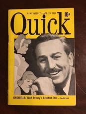 "1950, Walt Disney, ""Quick"" Magazine (Pre-Disneyland)"