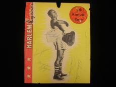 1950's Harlem Globetrotters 6x Autographed Page - B&E Hologram