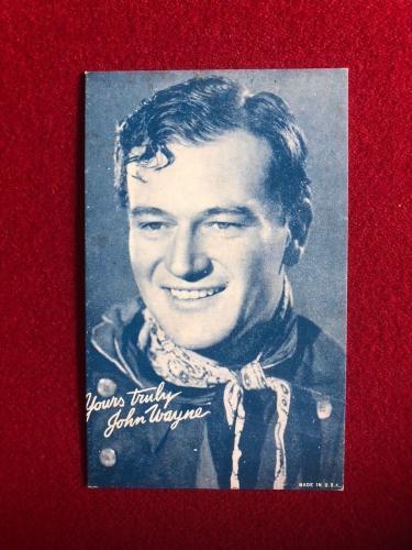 1950's, John Wayne, Salutation Exhibit Card (Scarce)