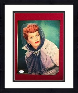 """1950's, Lucille Ball, """"Autographed"""" (JSA Full Letter) Magazine Page  (Scarce)"""