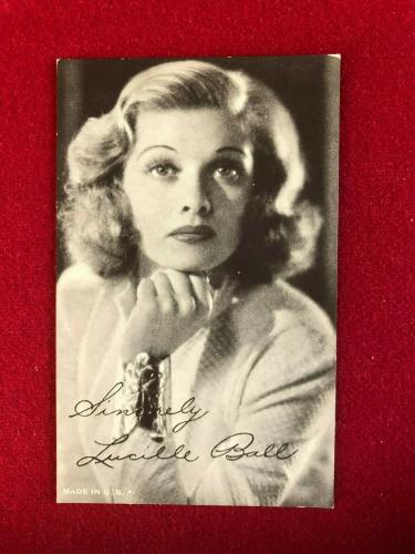 1950's, Lucille Ball, Salutation Exhibit Card (Scarce / Vintage)
