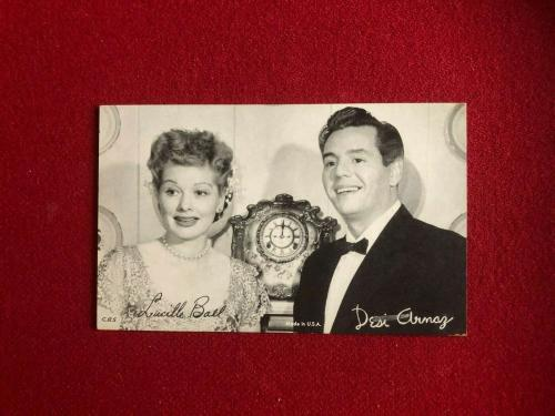 1950's, Lucille Ball Vintage Exhibit Card (Scarce) (I Love Lucy)