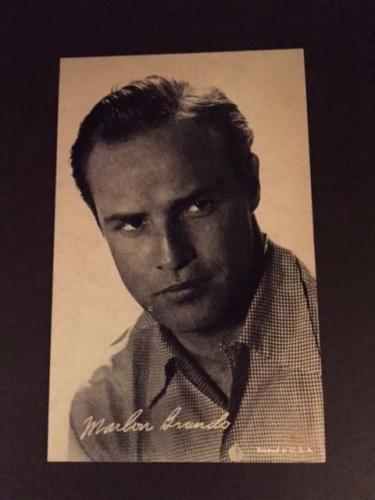 """1950's Marlon Brando, """"Exhibit Card"""