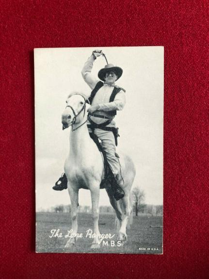 1950's, The Lone Ranger, Original Exhibit Card (Scarce / Vintage)