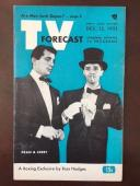 "1951, Dean Martin / Jerry Lewis, ""TV FORECAST"" Guide (No Label) (Scarce)"