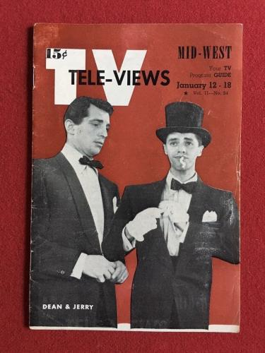 "1951, Dean Martin / Jerry Lewis, ""TV TELE-VIEWS"". (No Label) Scarce"