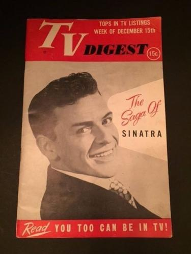 "1951 Frank Sinatra, ""TV Digest"" (No Label)"