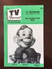 """1951, Howdy Doody, """"TV FORECAST"""" Guide (No Label) (Rare)"""
