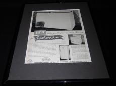 1951 IT&T Coolerator Framed 11x14 ORIGINAL Vintage Advertisement