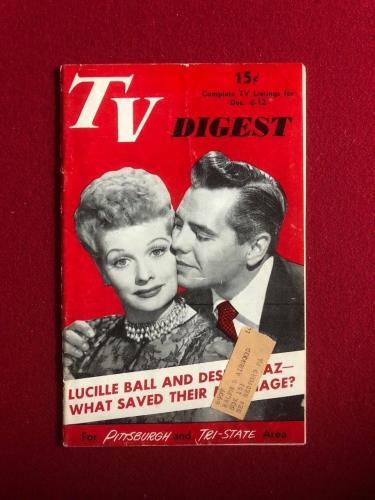 "1951, Lucille Ball (Desi), ""TV DIGEST"" (RARE) ""I Love Lucy"