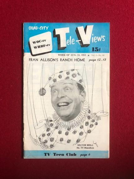 "1951, Milton Berle, ""Tele-Views"" Guide (No Label on Front) Scarce"