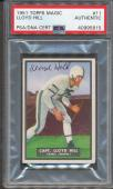 1951 Topps Magic #11 Lloyd Hill PSA/DNA Certified Authentic Signed Auto *5815