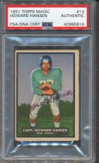 1951 Topps Magic #13 Howard Hansen PSA/DNA Certified Authentic Signed Auto *5816