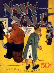 1951 Yale Bulldogs vs Navy Midshipmen 22x30 Canvas Historic Football Poster