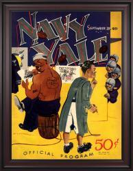 1951 Yale Bulldogs vs Navy Midshipmen 36x48 Framed Canvas Historic Football Poster