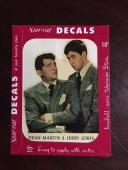 """1952, Dean Martin / Jerry Lewis, """"Un-Used"""" Star-Cal Decal (Scarce)"""