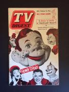 """1952 Howdy Doody, """"TV Digest"""" (No Label) - Rare"""