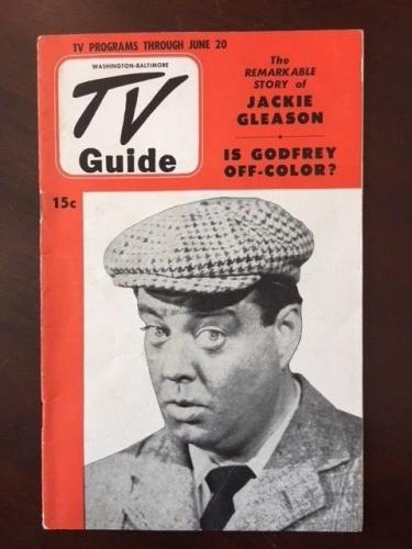 "1952, Jackie Gleason, ""TV Guide"", (No Label) Scarce"