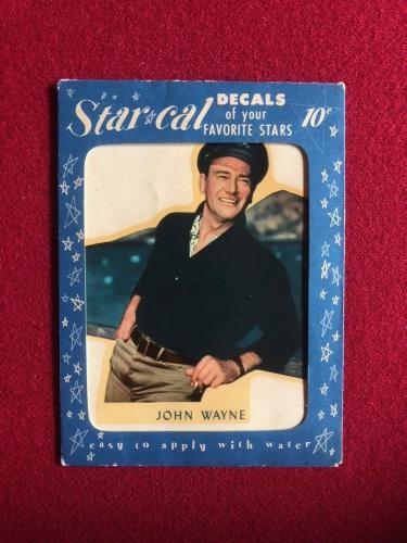 "1952, John Wayne, ""Un-Opened"" Star Cal Decal (Scarce)"