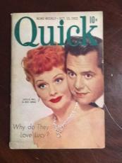 "1952, Lucille Ball / Desi Arnez (I Love Lucy), ""Quick"" Magazine"