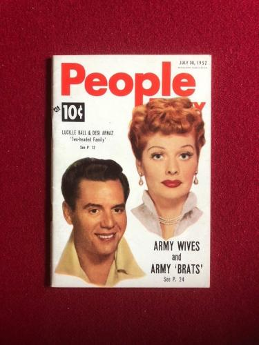 "1952, Lucille Ball (Desi), ""People"" Magazine (I Love Lucy) Scarce"
