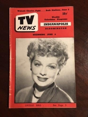 "1952, Lucille Ball (I Love Lucy), ""TV News"" (No Label) - Rare"