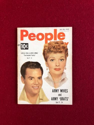 """1952, Lucille Ball, """"People"""" Magazine  (Scarce) (No Label) (I Love Lucy)"""