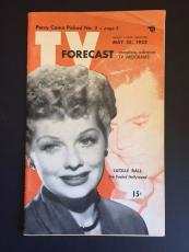 "1952 Lucille Ball, ""TV Forcast"" Guide (I Love Lucy)"