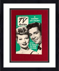 "1952, Lucille Ball ""TV Guide""  (No Label)  RARE  (I Love Lucy)"
