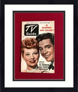 """1952, Lucille Ball """"TV Guide""""  (No Label) Scarce  (I Love Lucy)"""