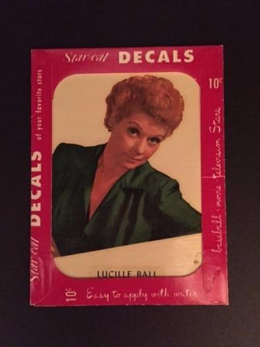 """1952 Lucille Ball, """"Un-Opened"""" Star Cal Decal"""