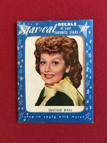 "1952, Lucille Ball, ""Un-Used"" Star-Cal Deal (Scarce)"