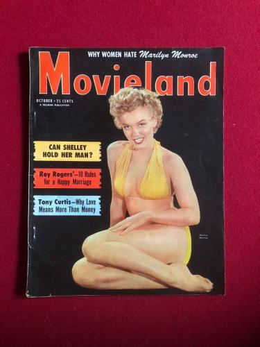 "1952, Marilyn Monroe, ""Movieland"" Magazine (No Label) Scarce"