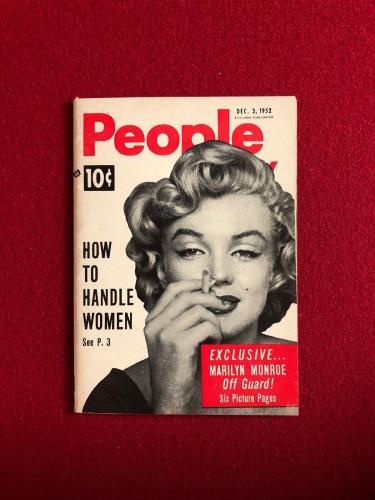 """1952, Marilyn Monroe, """"People Today"""" Magazine (Scarce)"""