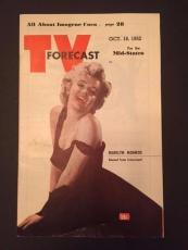 "1952 Marilyn Monroe, ""TV Forecast"" Program Guide (No Label)"