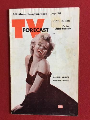 "1952, Marilyn Monroe, ""TV FORECAST"" Guide (Scarce)"