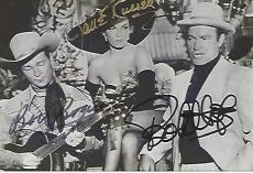 "1952 Movie ""SON of PALEFACE"" Signed by BOB HOPE as PETTER POTTER JR. (Passed Away 2003), JANE RUSSELL as THE TORCH, (Passed Away 2011) and ROY ROGERS as ROY BARTON (Passed Away 1998) 6x4 B/W Photo"