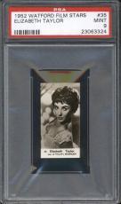 1952 Watford ELIZABETH TAYLOR #35 PSA MINT 9 Film Stars