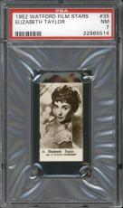 1952 Watford ELIZABETH TAYLOR #35 PSA NM 7 Film Stars