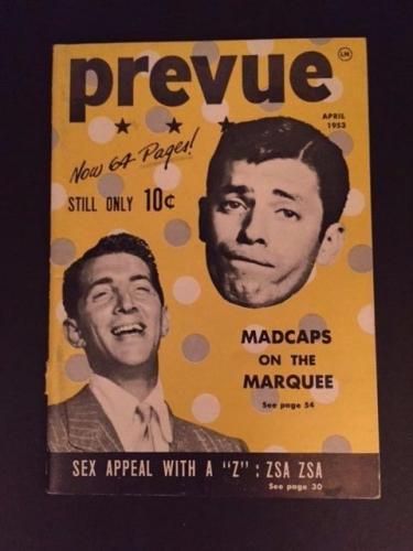 """1953 Dean Martin & Jerry Lewis, """"Prevue"""" Magazine"""