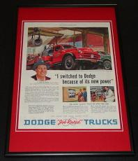 1953 Dodge Job Rated Trucks Framed ORIGINAL 12x18 Vintage Advertisement Poster