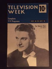 "1953 Liberace, ""Television Week"" Program Guide (No Label)"