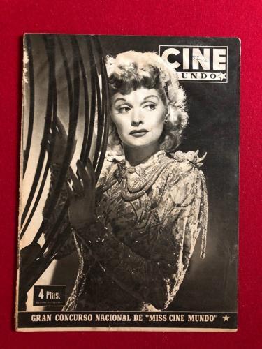 "1953, Lucille Ball, ""CINE"" Oversize Magazine (Scarce) (I Love Lucy)"