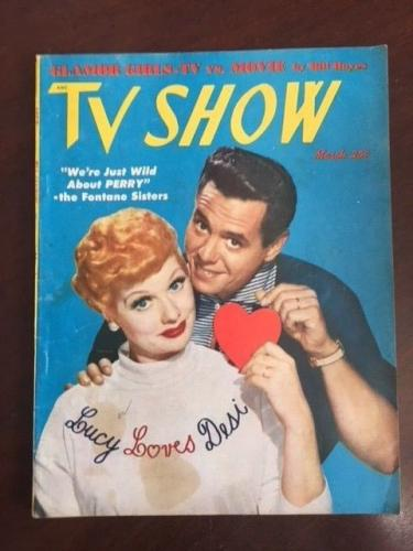 "1953, Lucille Ball (I Love Lucy), ""TV SHOW"" Magazine (No Label) Scarce"