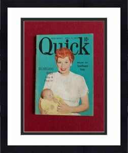 """1953, Lucille Ball """"Quick"""" Magazine (Scarce / Vintage) I Love Lucy"""