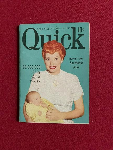 "1953, Lucille Ball ""Quick"" Magazine (Scarce / Vintage) I Love Lucy"