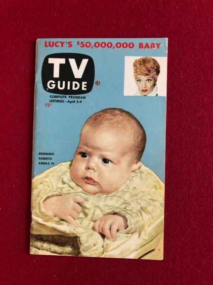 "1953, Lucille Ball ""TV Guide""  (First Issue!!) (No Label) Scarce (I Love Lucy)"