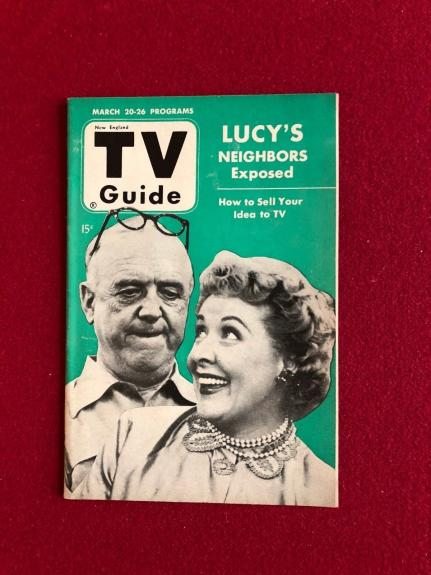 """1953, Lucille Ball  """"TV Guide"""" (No Label)  Scarce  (I Love Lucy)"""
