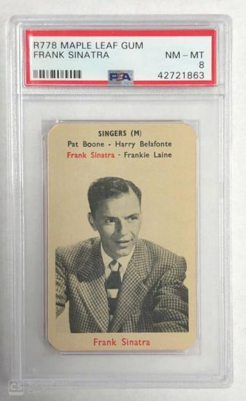 1953 Maple Leaf Gum Frank Sinatra R778 Card Psa 8 Nm/mt Highest Graded Pop 3