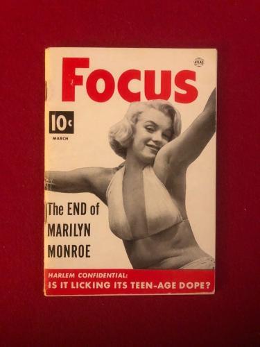 "1953, Marilyn Monroe, ""FOCUS"" Magazine (Scarce)"